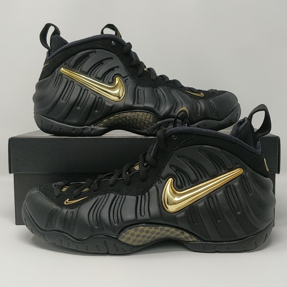 52226e76dba Nike Air Foamposite Pro Black Gold 624041-009